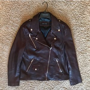 Brown Leather Jacket XL